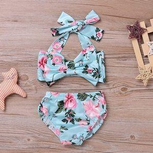Other - Baby Girl Floral Bikini